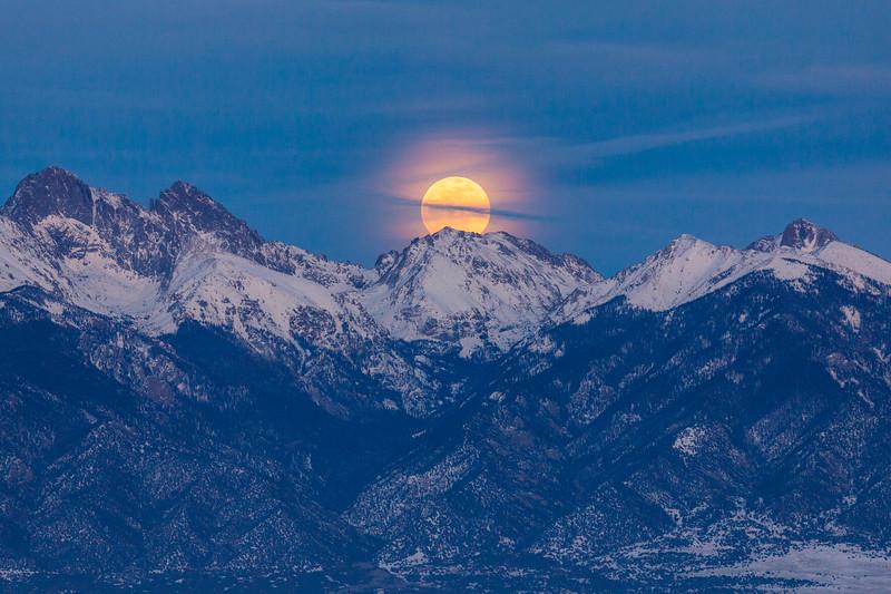 Moon over the Sangre de Cristo, Colorado