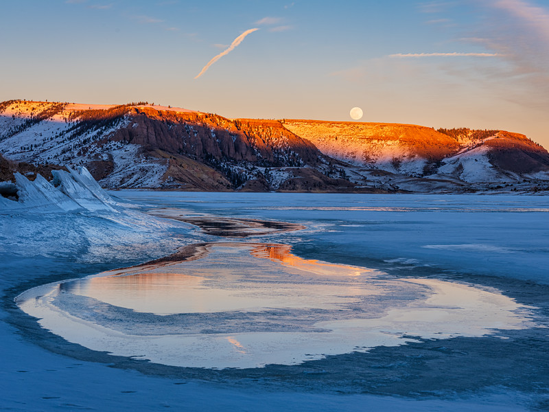 """Moon at Blue Mesa"", Gunnison, Colorado"
