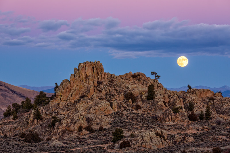 """Full Moon over Hartman rocks"""
