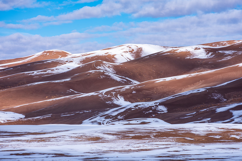 """Snowy Dunes"" The Great Sand Dunes N P, Colorado"