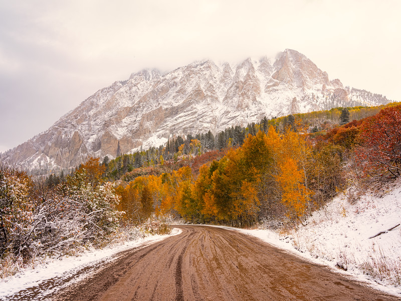 """Prelude to Winter"", Marcellina Mountain, Kebler Pass"