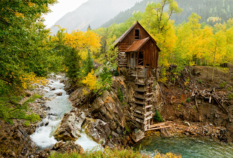 """Crystal Mill Sunrise"" Crystal, Colorado"