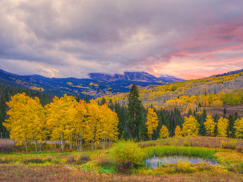 """Kebler Pass Sunset"" Kebler Pass, Colorado"