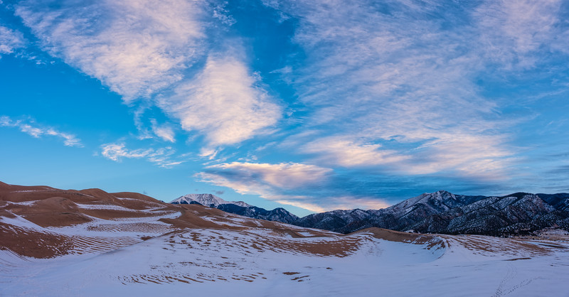 """Snow and Dunes"" The Great Sand Dunes N P, Colorado"