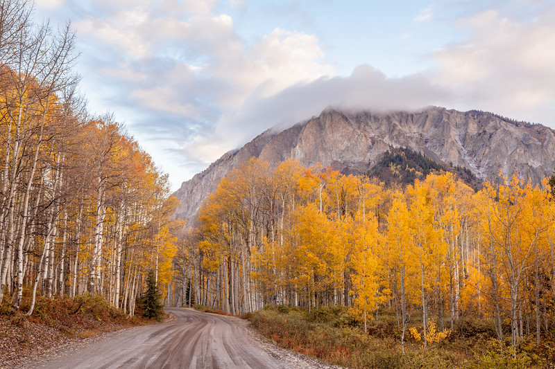 """Marcelina Mountain and Road"" Kebler Pass, Colorado"