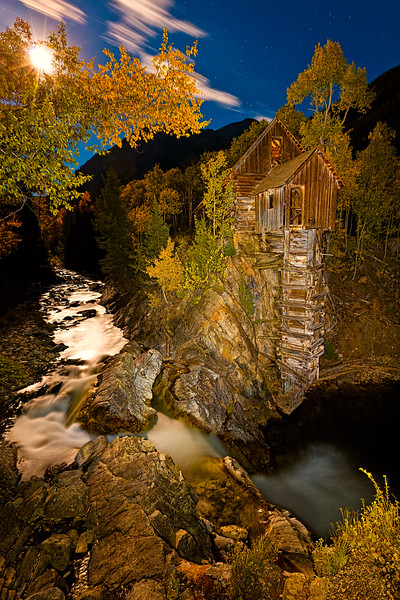 """Crystal Mill Moonrise"" Crystal, Colorado"