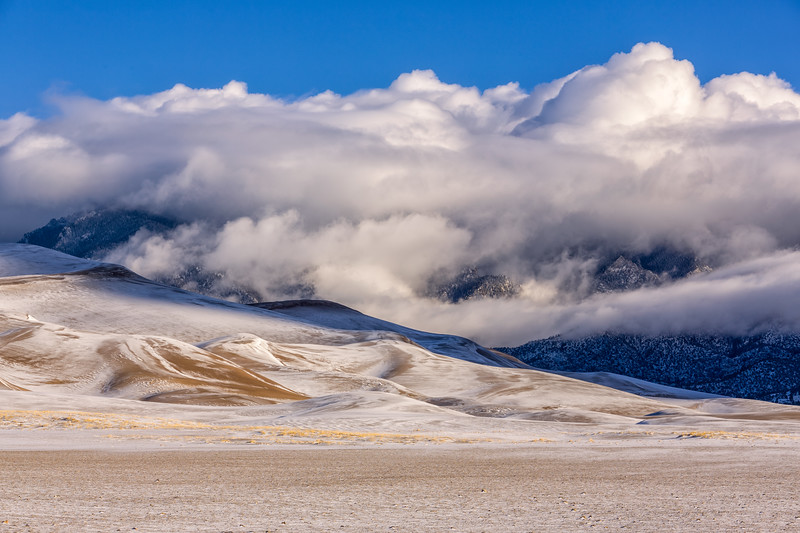 """Snowy Dunes"" Great Sand Dunes NP, Colorado"