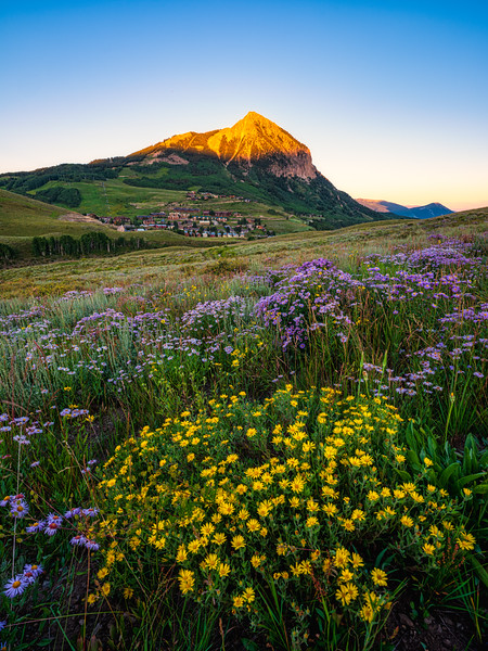 """At the End of a Blue Bird Day"", Crested Butte, Colorado"