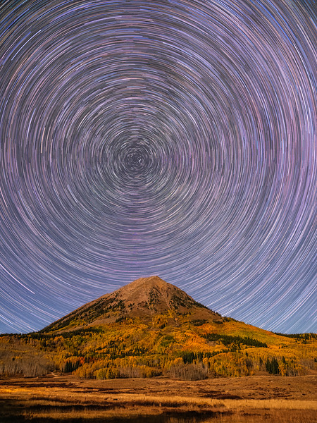 """Gothic Mountain under the Stars"", Crested Butte, Colorado"