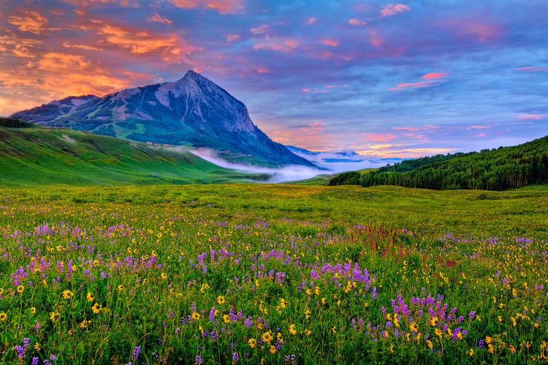 """Mt Crested Butte Sunrise"" Washington Gultch, Colorado"