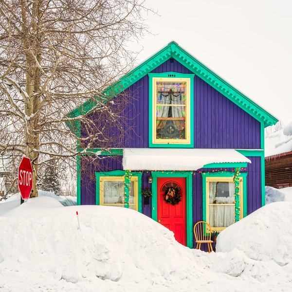 """Purple House"" Crested Butte, Colorado"