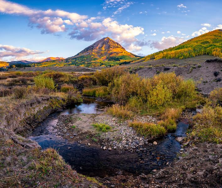"""Bend in the Stream"" Washington Gulch, Colorado"