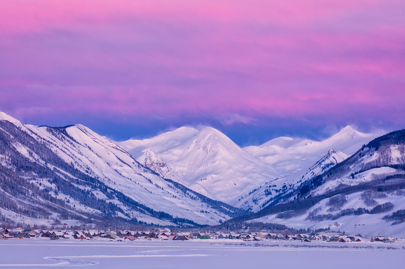 """Crested Butte in Pink"" Crested Butte, Colorado"