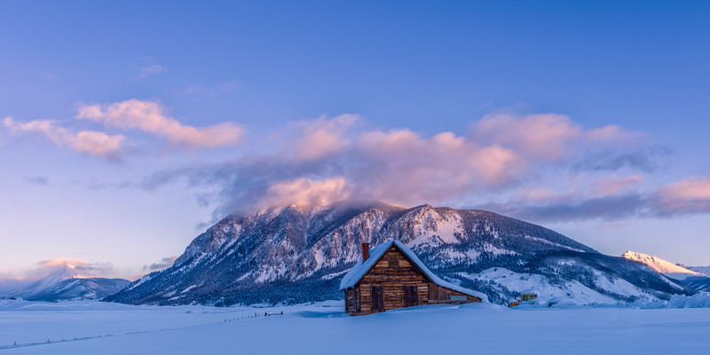 """Cabin in the Snow"" Crested Butte, Colorado."