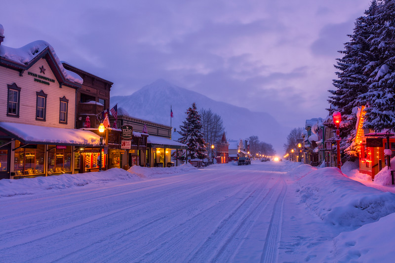 """'Night Time on Elk"""" Crested Butte, Colorado"""