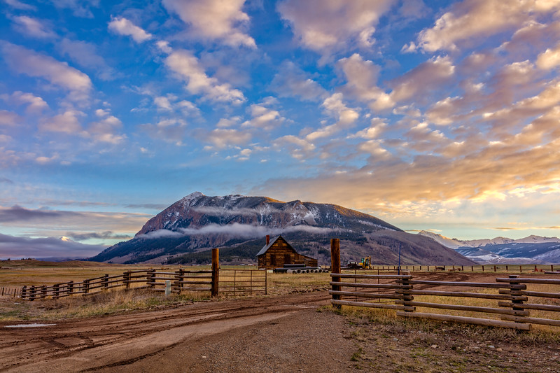 """ Cabin & Mount CB"" Crested Butte, Colorado"