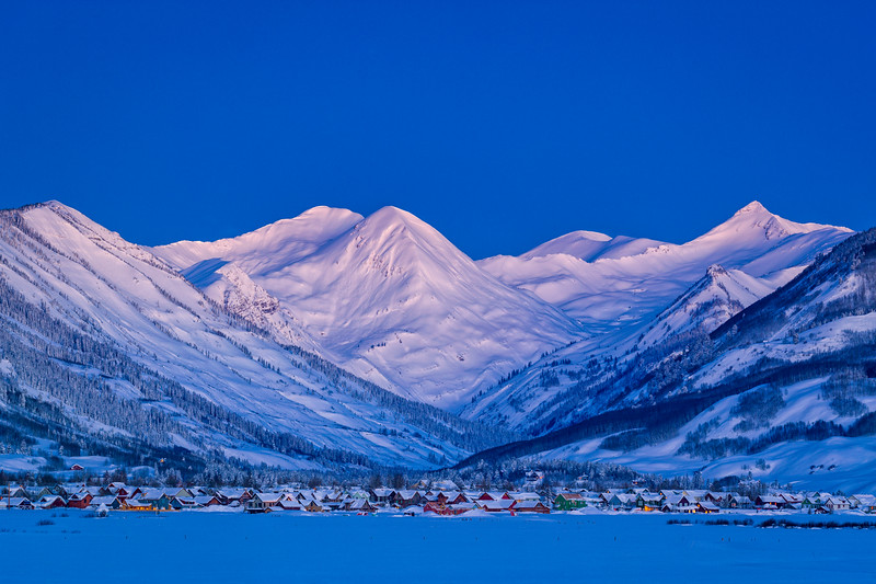 """CB Blues"" Crested Butte, Colorado"