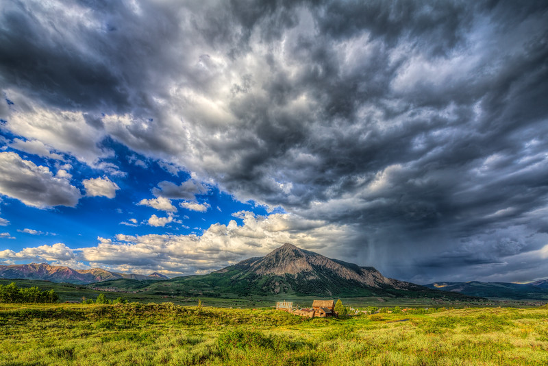 """Mt Crested Butte Clearing Storm"" Crested Butte, Colorado"