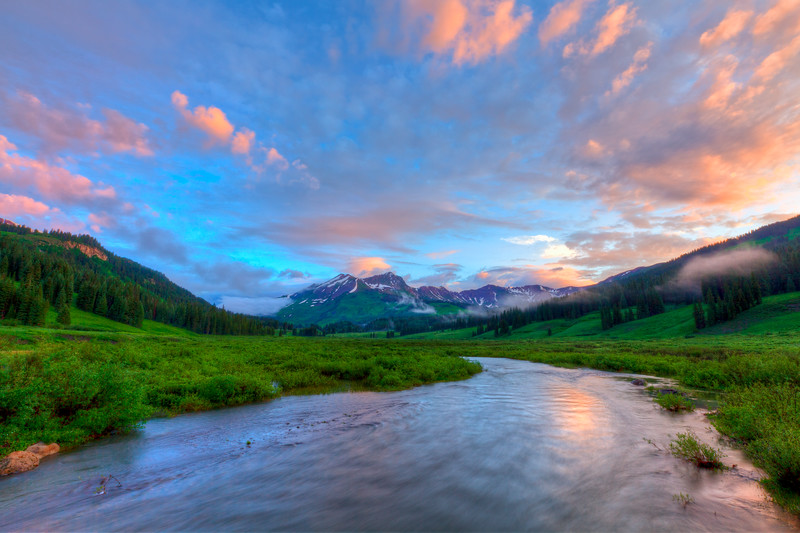 """East River Sunrise"" Crested Butte, Colorado"