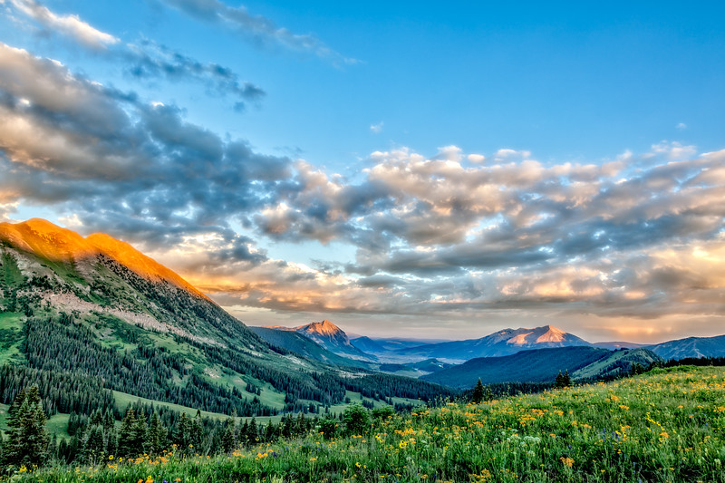 """Summer Evening"" Washington Gultch, Colorado"