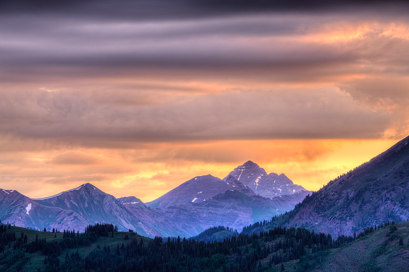 """""""Maroon Bells Sunrise from Gunsight Pass"""" Crested Butte, Colorado"""