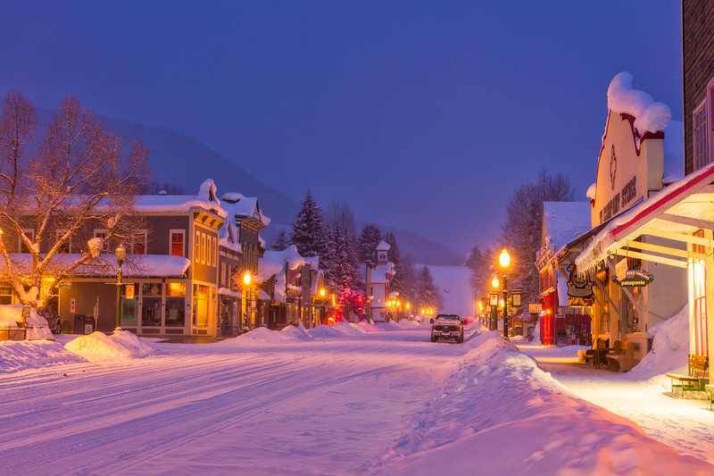 "'Night Time on Elk"" Crested Butte, Colorado"