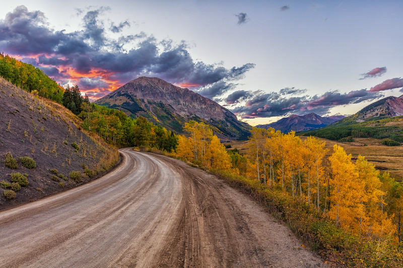 """""""Gothic Mtn & Clouds"""" Gothic, Colorado"""