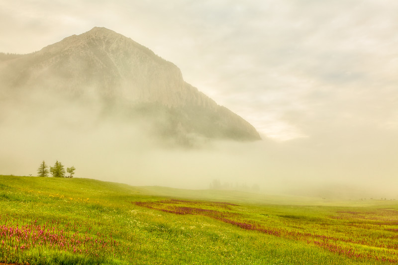 """Crested Butte Mt in the Mist"" Mt Crested Butte, Colorado"