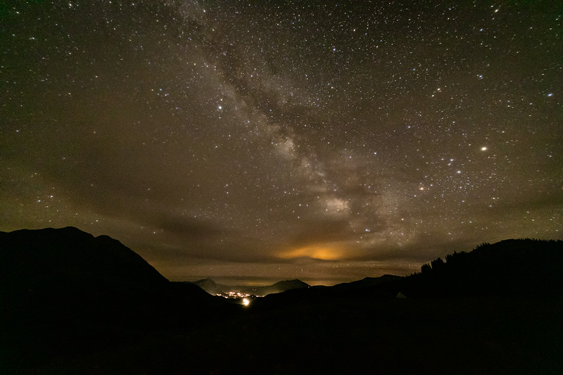 """Night Sky from Washington Gulch"" Crested Butte, Colorado"