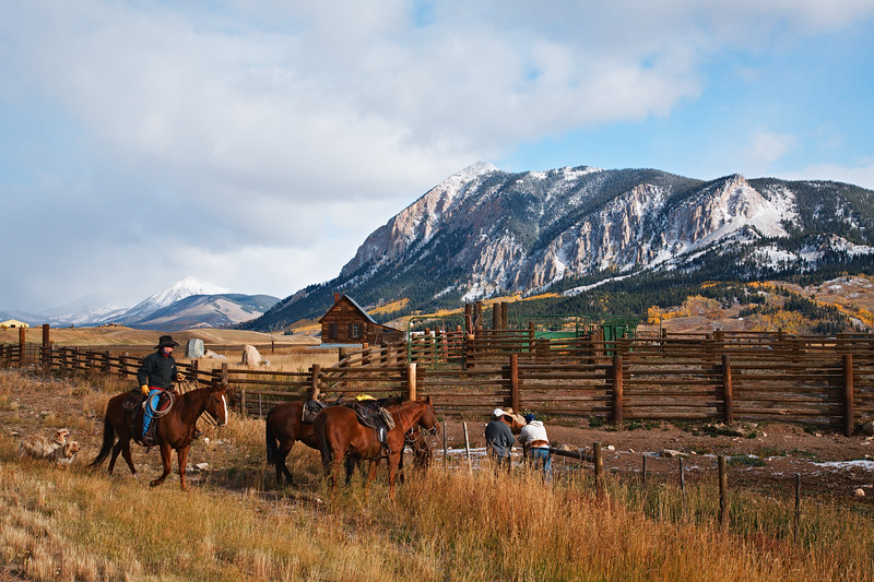 """Ranching in Crested Butte"" Crested Butte, Colorado"