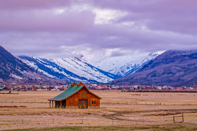 """Barn & Mountains"" Crested Butte, Colorado"