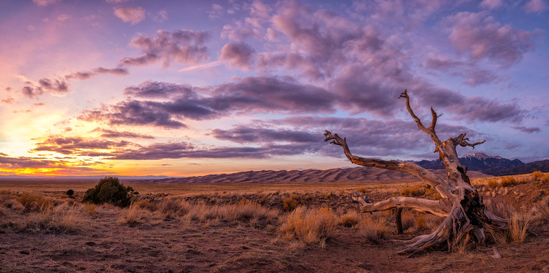"""""""The Sun Setting on the Great Sand Dunes"""" Great Sand Dunes NP, Colorado"""