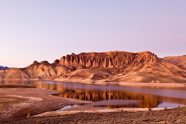 """Dillon Pinnacle's Sunset"" Blue Mesa Lake, Colorado"