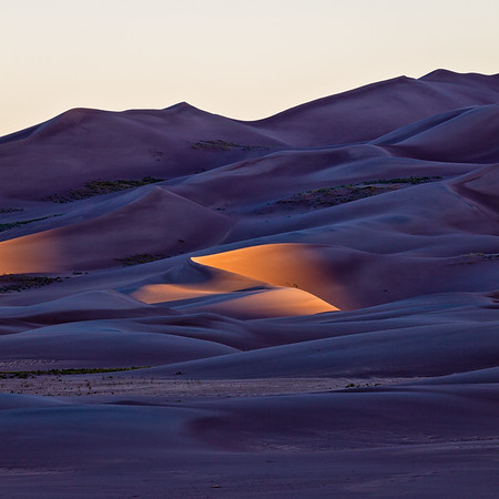 """First Light"" Great Sandunes NP, Colorado"