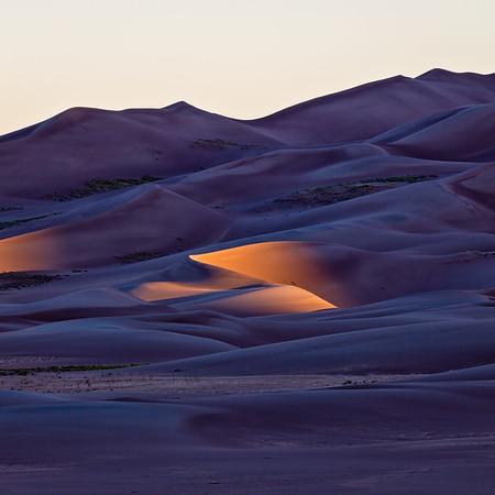 """First Light"" Great Sandunes NP, Colorado"