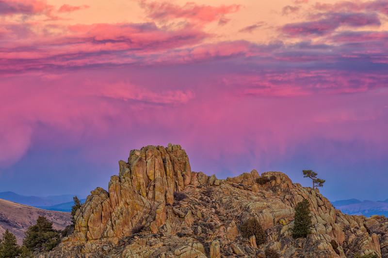 """Hartman Rocks Sunset"" Gunnison, Colorado"