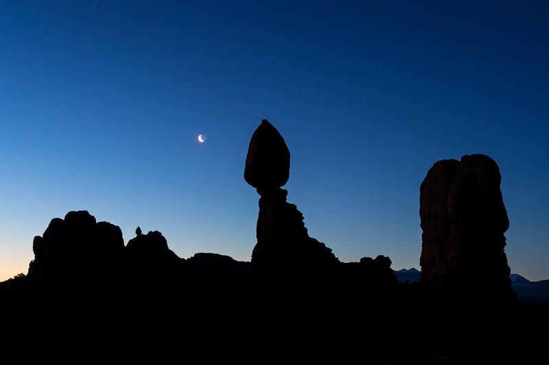 """Moon Rise over Balancing Rock"" Arches NP, Utah"