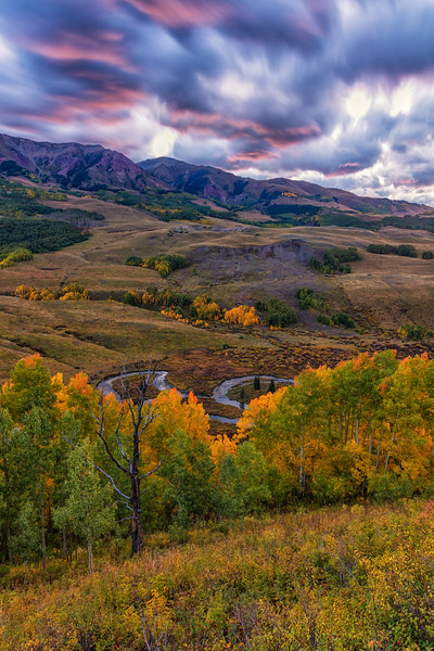 """East River Fall Colors & Clouds"" Gothic, Colorado"