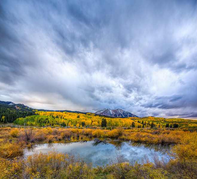 """East Beckworth in Fall"" Kebler Pass, Colorado"