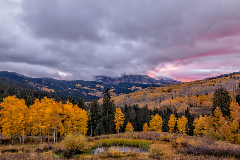 """Kebler Pass Sunset"" Colorado"