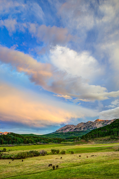 """Anthracite Range & Clouds"" Ohio Creek, Colorado"