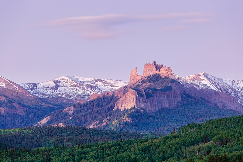 """Castles & Cloud from Swampy Pass"" Gunnison, Colorado"
