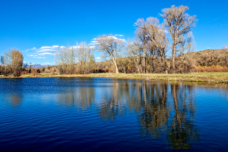 """Spring Reflections"", McCabes Lane Wetlands, Gunnison, Colorado"