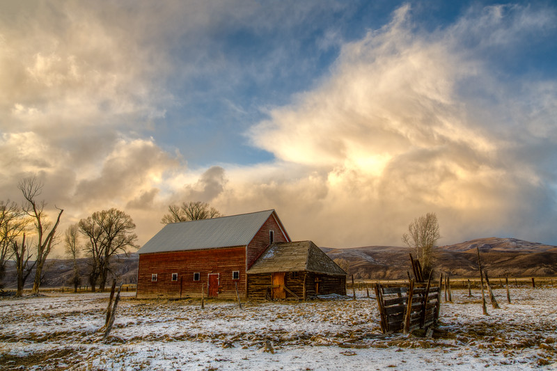 """Spann Barn & Clearing Storm"" Gunnison Colorado"