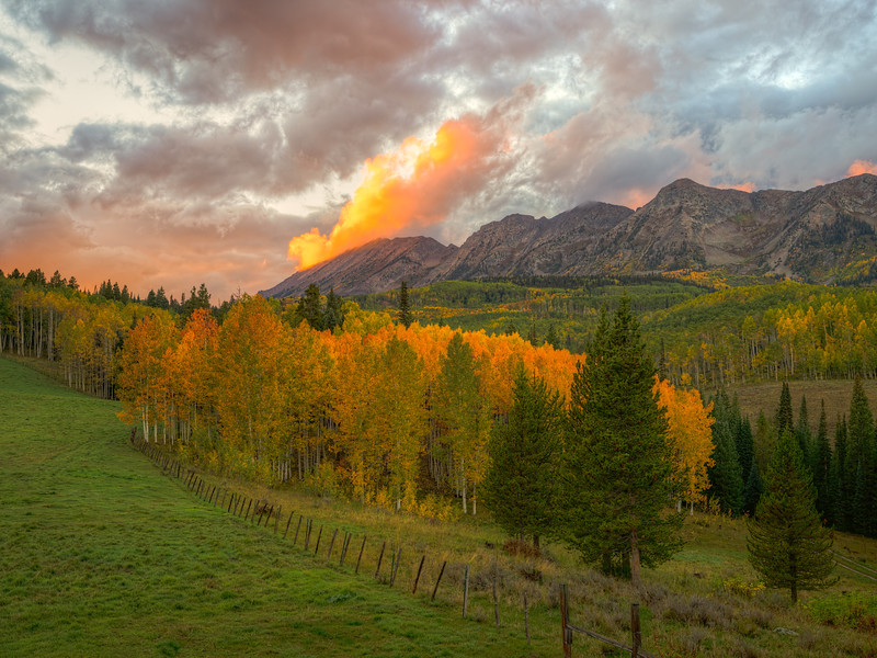 """Clouds on Fire"" Ohio Creek, Colorado"