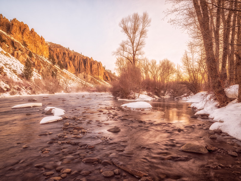 """Gunnison River Spring Thaw"" Gunnison, Colorado"