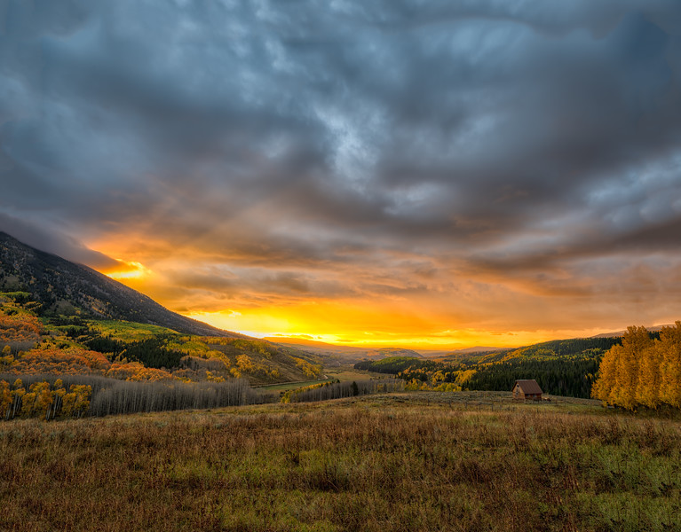 """Carbon Mountain Sunrise"" Ohio Creek, Colorado"