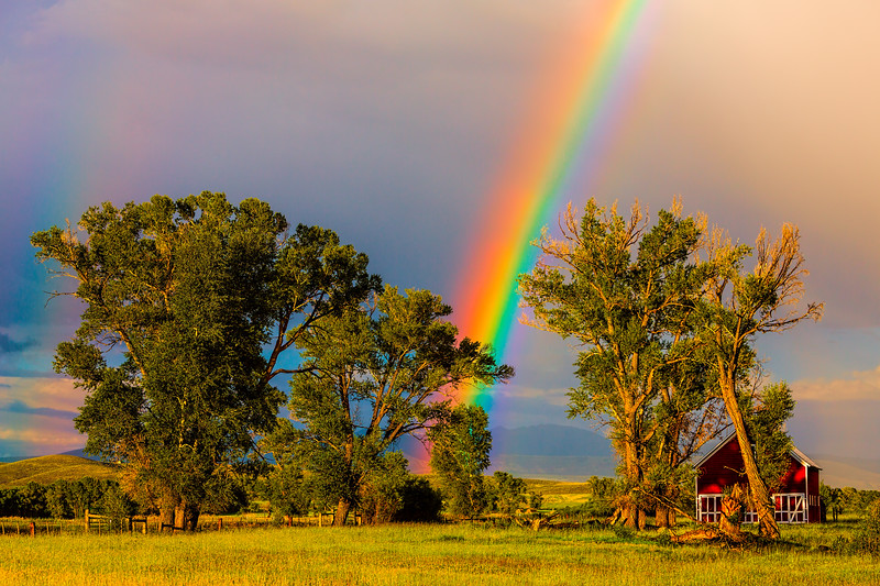 """At the End of the Rainbow"" Gunnison, Colorado"