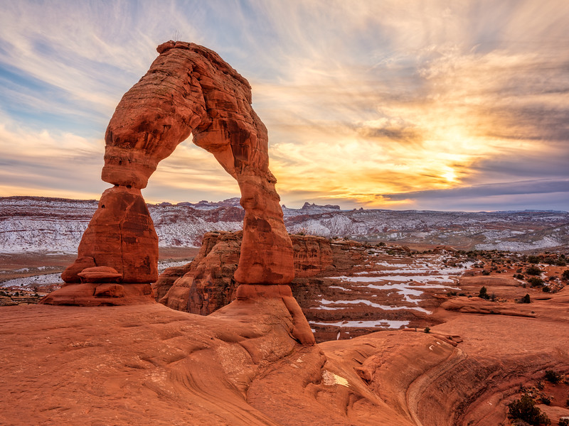 """Delicate Arch Sunset"", Arches N P, Utah"