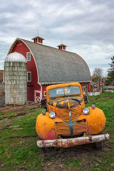"""Red Lorry Yellow Lorry"" Palouse, Washington State"
